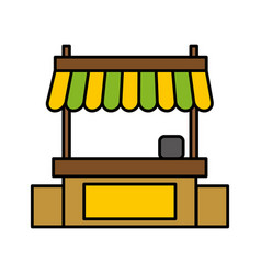 store kiosk icon vector image
