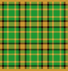 Tartan seamless pattern background green black vector