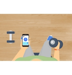 The blood oxygen level monitoring mobile app vector
