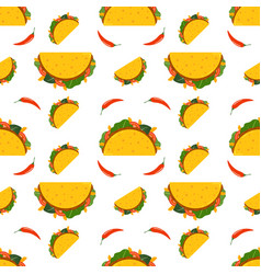 traditional mexican taco taco logo for restaurant vector image