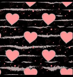 Valentine s day background grunge brush strokes vector