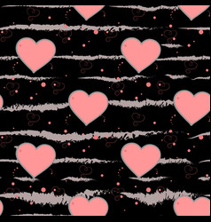 valentine s day background grunge brush strokes vector image