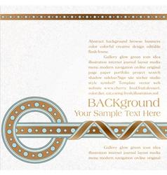 vintage ornate background vector image vector image