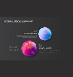 world map globe business infographic presentation vector image