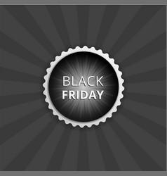 black friday round sticker color banner vector image