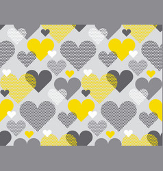 gray and yellow color love concept icon repeatable vector image vector image