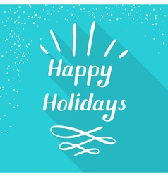 happy holidays small vector image
