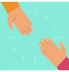 helping hands in flat style vector image vector image
