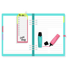 notepad with a marker to note the important vector image vector image