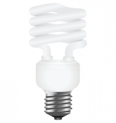 energy saving lamp vector image vector image
