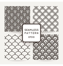 Set of four geometric seamless pattern vector image vector image