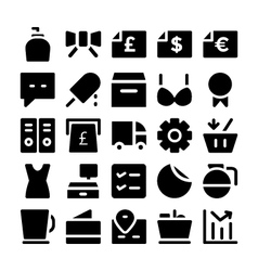 Shopping icons 12 vector