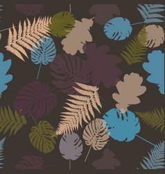 colorful leaf background eps10 vector image vector image