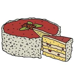 Fruit cake vector