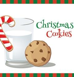 milk christmascookie vector image vector image
