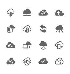 Simple Computer Cloud Icons vector image vector image