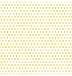 Simple seamless gold polka dot background vector image