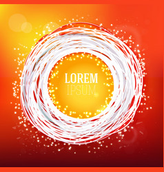 sketched hot red colors sketch label vector image vector image