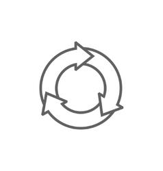Arrows circle line icon vector