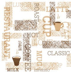 Coffee themed seamless background vector