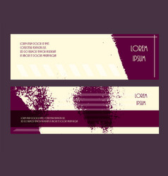 flyer grunge style texture purple yellow set vector image vector image