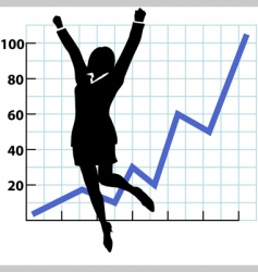 growth chart vector image vector image