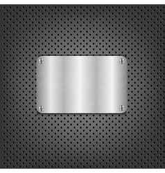 Metal Background With Plate And Bolts vector image vector image