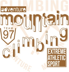 Mountain climbing vector image