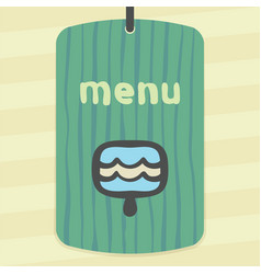 Outline blue ice cream lolly icon modern logo and vector