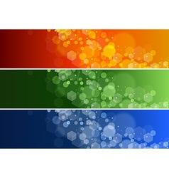 Set of Defocused Banners vector image
