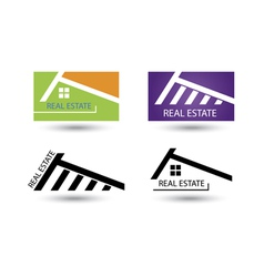 Set of icons for real estate business vector image