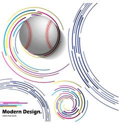 Abstract baseball ball on modern background vector