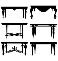 antique ancient classic table a set table vector image