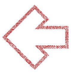 arrow left fabric textured icon vector image