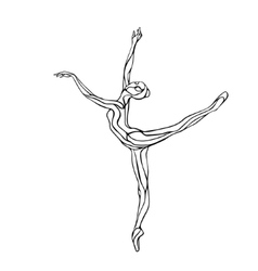 Ballet girl Art gymnastics dancing woman vector image