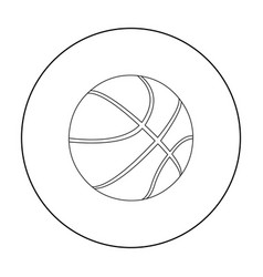 basketball icon outline single sport icon from vector image