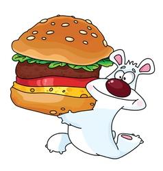 bear and burger vector image