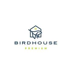 Bird house logo icon vector