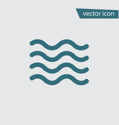 Blue wave icon isolated on background modern flat vector
