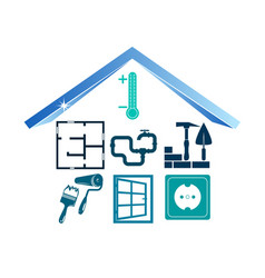 buildings construction pictogram vector image