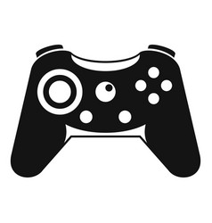 button gamepad icon simple style vector image