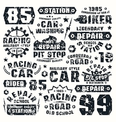 Car repair typographic elements vector