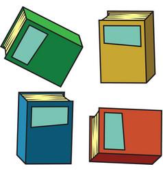 Cartoon books vector