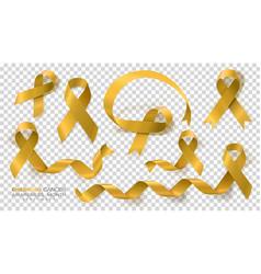 Childhood cancer awareness month gold color vector