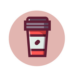 coffee to go isolated icon vector image