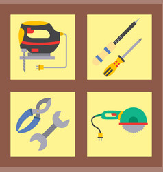 Construction worker equipment house vector