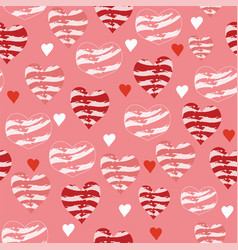 coral pink and red love hearts vector image