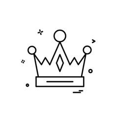 crown empire king icon design vector image