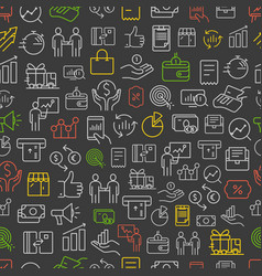 different business app icons color seamless vector image