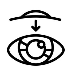 eye vision contact lens biomaterial icon vector image